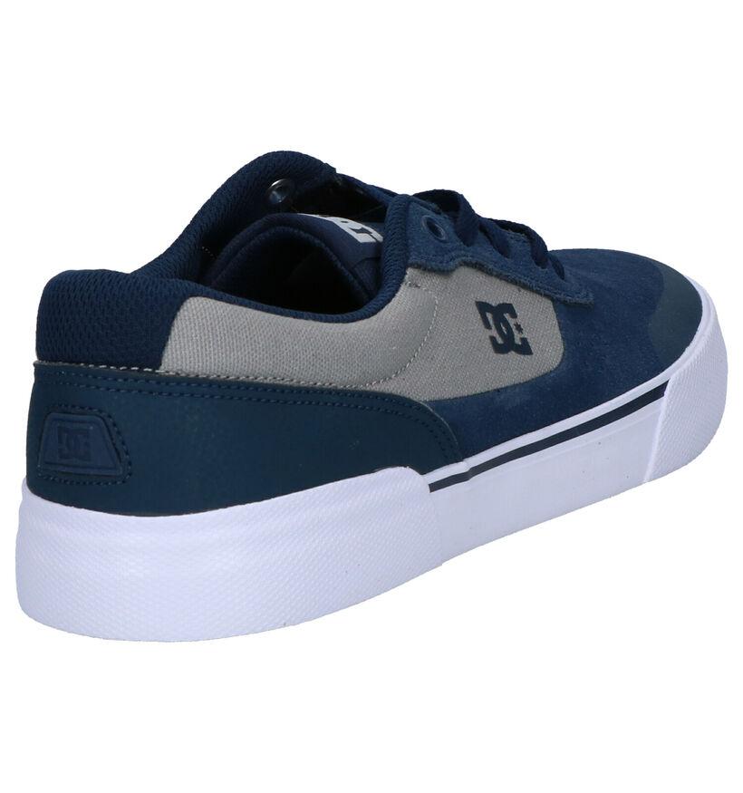 DC Shoes Switch Plus Blauwe Skateschoenen in daim (254817)
