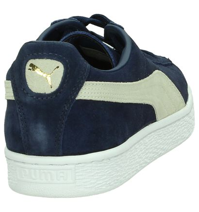 Kaki Lage Sneakers Puma Suede Classic, Blauw, pdp