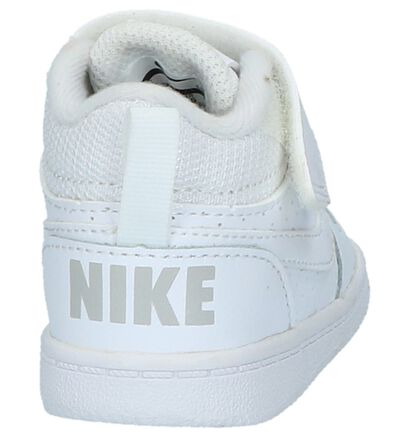 Nike Court Borough Witte Babyschoentjes in leer (205813)