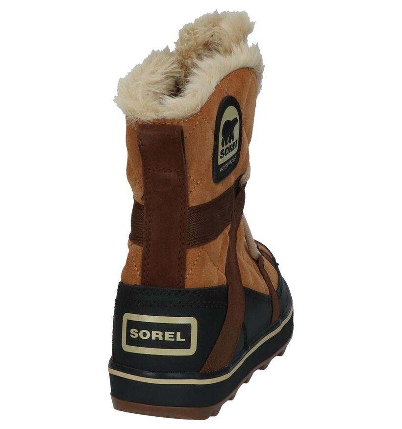 Sorel Glacy Explorer Cognac Snowboots in daim (231096)