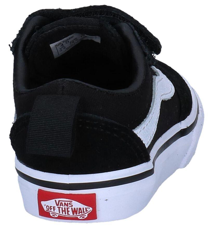 Zwarte Lage Skateschoenen Vans Ward in daim (253303)