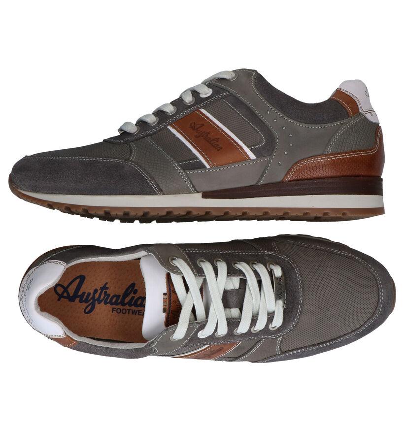 Australian Condor Chaussures à lacets en Gris en cuir (289119)