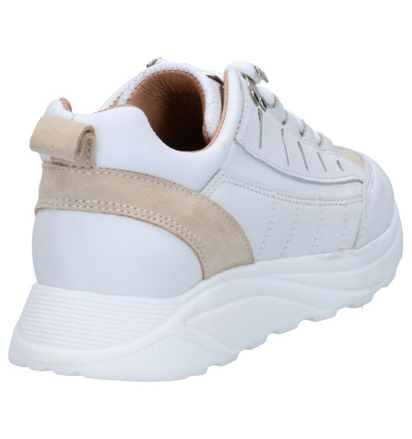 Scapa Witte Sneakers in leer (270352)