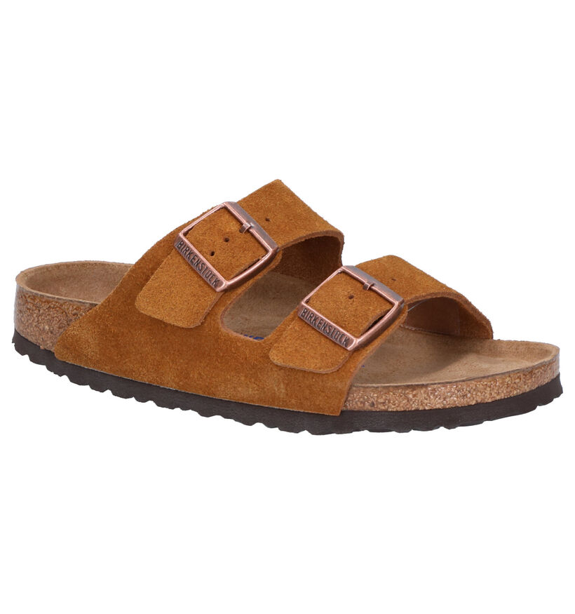 Cognac Slippers Birkenstock Arizona in daim (271258)