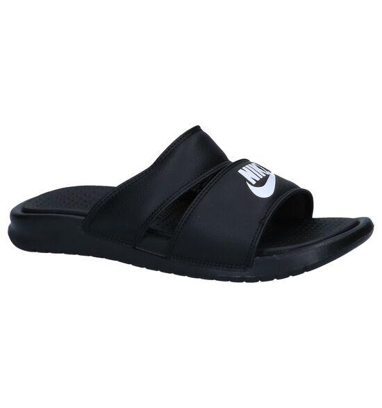 Nike Nu-pieds plates en Noir