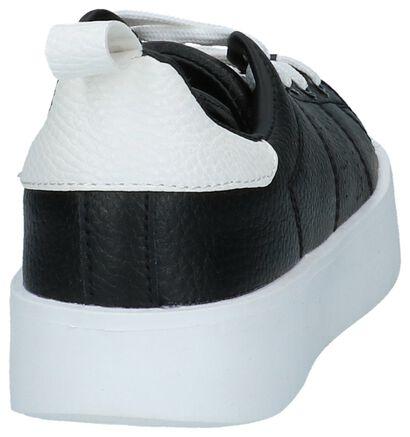 Zwarte Sneakers Pepe Jeans Brixton Low in leer (225527)
