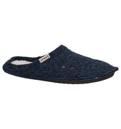 Donkerbruine Pantoffels Crocs Classic, Blauw, pdp