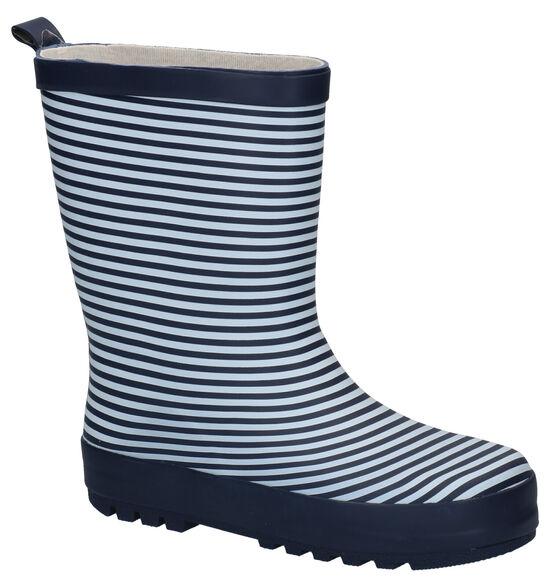 Dazzle Stripes Bottes de Pluie en Bleu/Blanc
