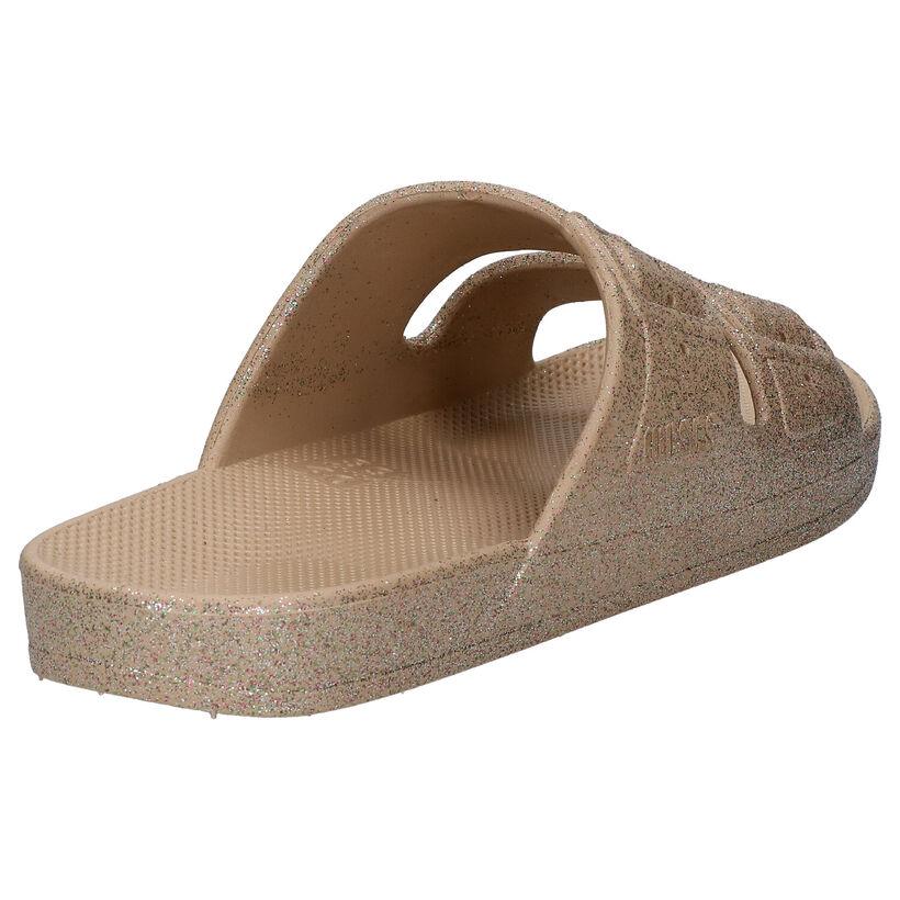 Freedom of Moses Celeste Sands Gouden Slippers in kunststof (275877)