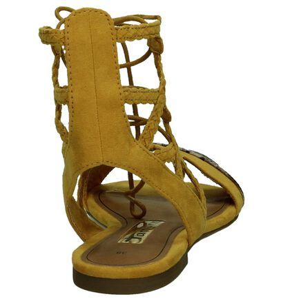 Sandaal met Slangenprint Geel, Geel, pdp