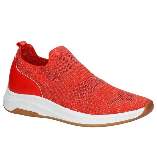 Dazzle Oranje Slip-on Sneakers