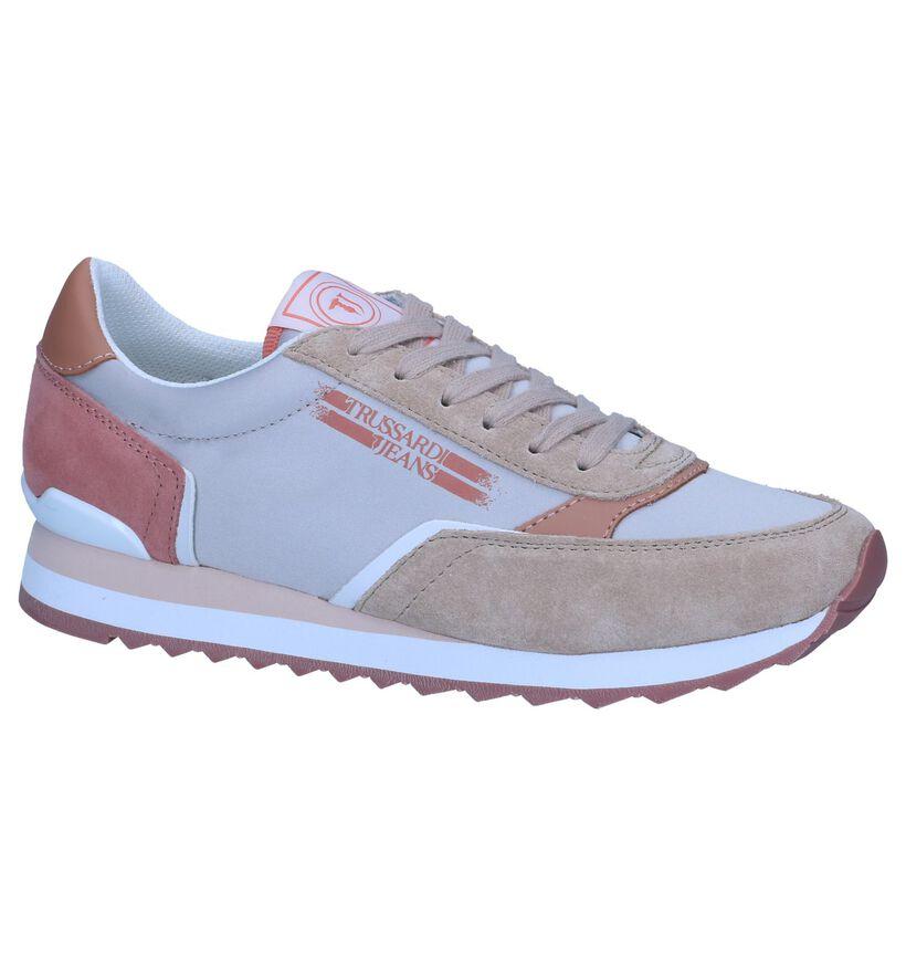 Beige Sneakers Trussardi Jeans in stof (239600)
