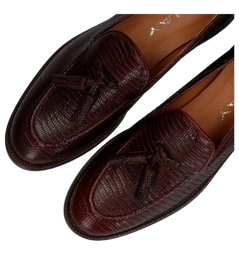 JHay Bruine Loafers in leer (281954)