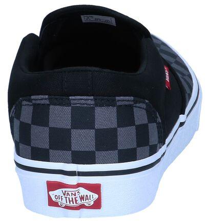Zwarte Slip-on Sneakers Vans Asher , Zwart, pdp