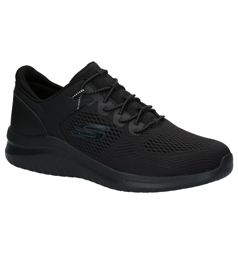 Skechers Ultra Flex Baskets en Noir en textile (279420)