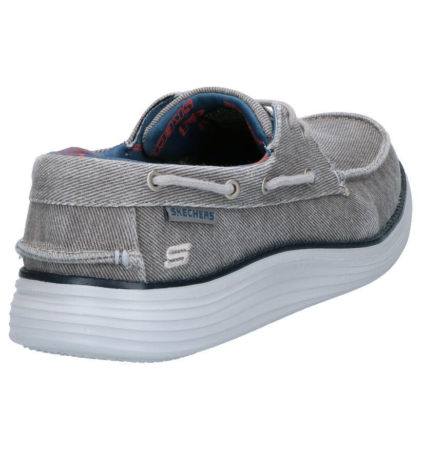 Skechers Chaussures bateau en Bleu foncé en textile (272812)
