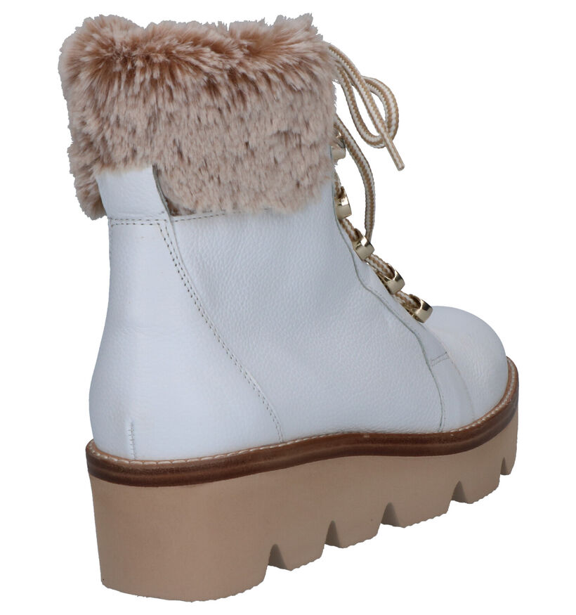 Gabor Best Fitting Witte Boots in leer (260359)