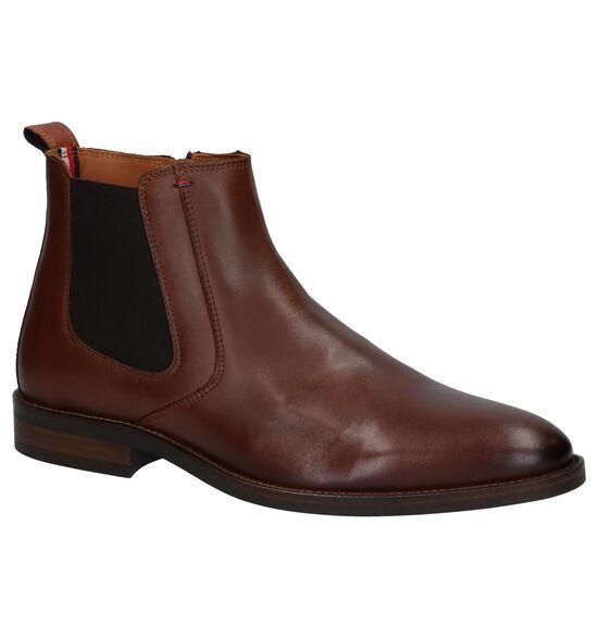 Tommy Hilfiger Essential Cognac Chelsea Boots