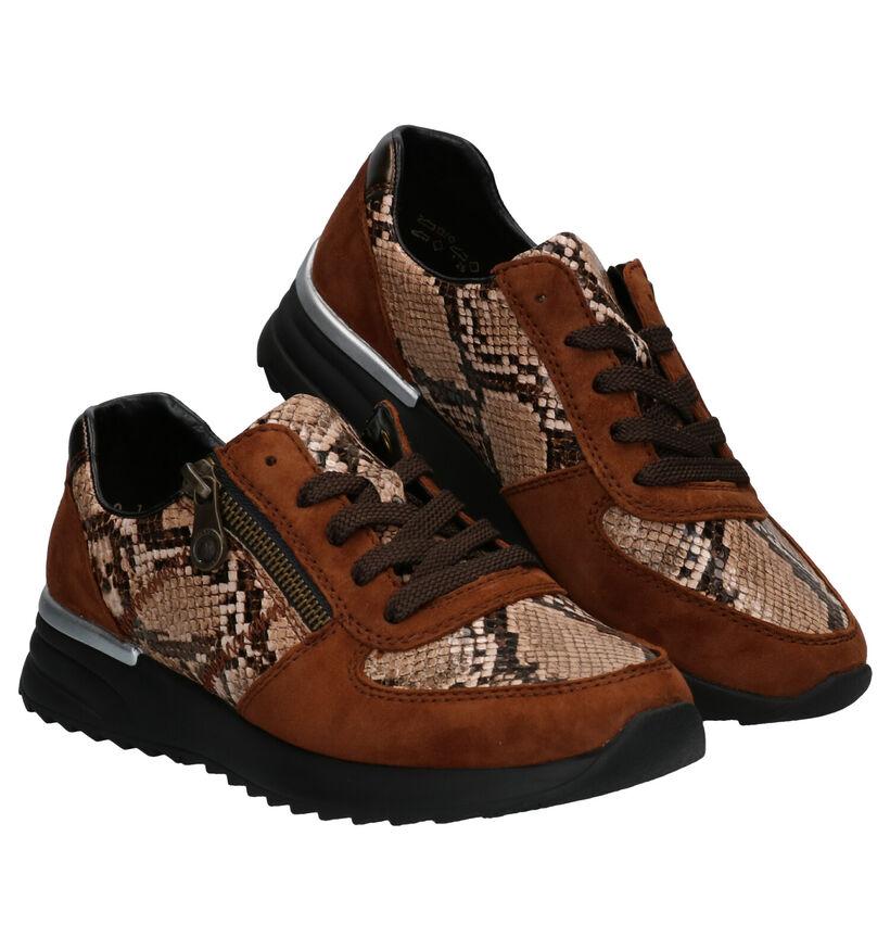 Rieker Chaussures à lacets en Beige clair en nubuck (287464)