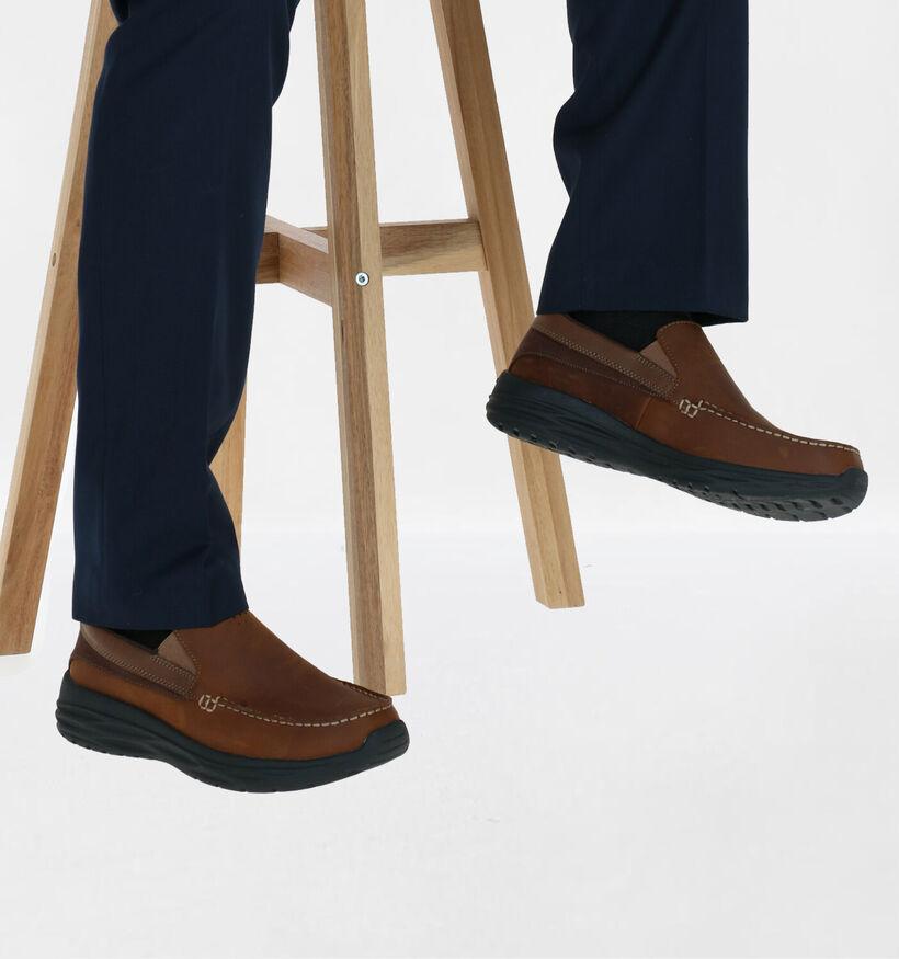Skechers Chaussures slip-on en Brun clair en nubuck (277909)
