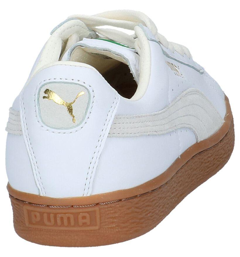 Puma Basket Classic Baskets basses en Blanc en cuir (209932)