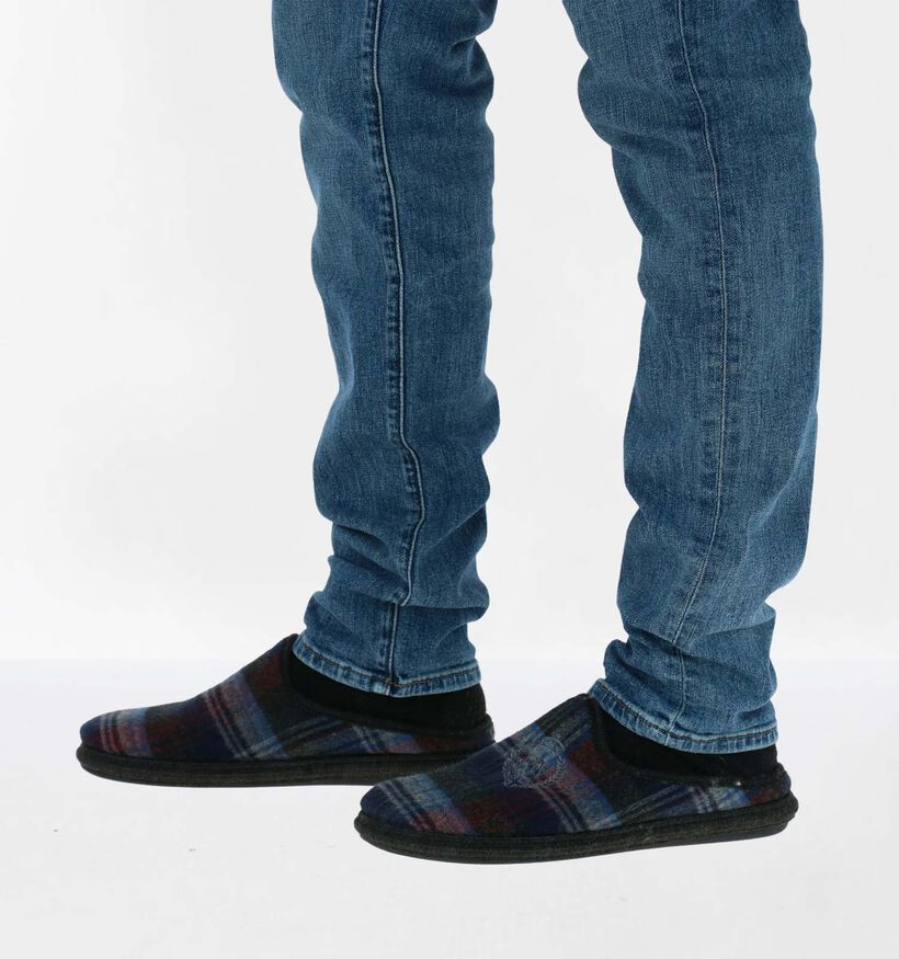 River Woods Pantoufles ouvertes en Bleu foncé en textile (281927)