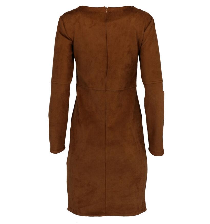 Julie Mode Robe Mini en Cognac (274672)