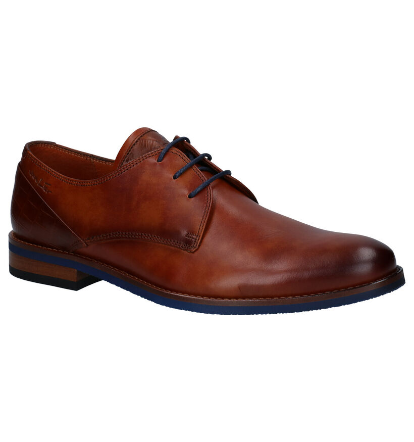 Van Lier Chaussures basses en Cognac en cuir (283347)