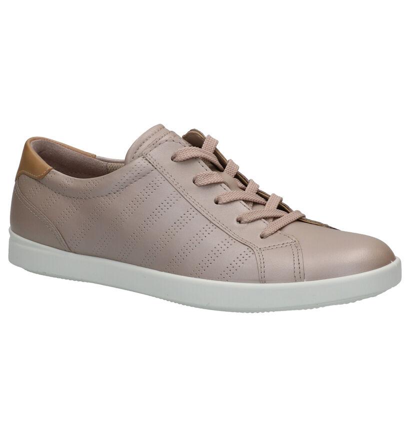 ECCO Leisure Chaussures à lacets en Rose en cuir (275319)