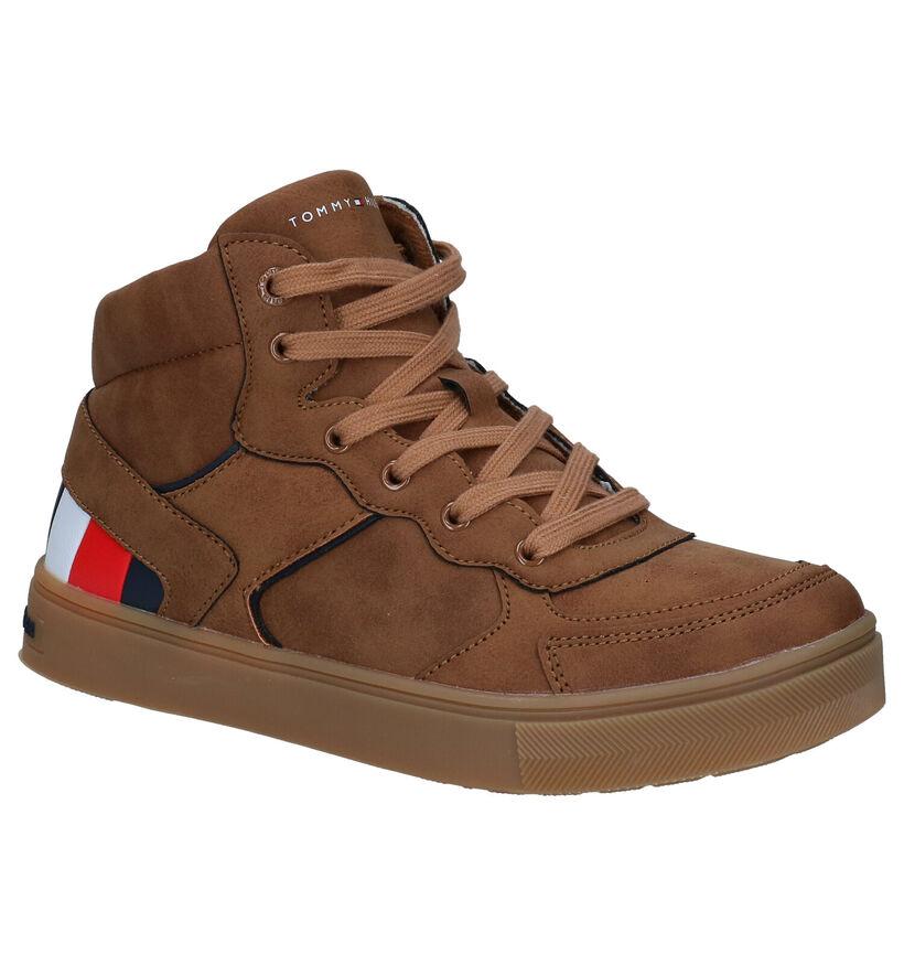 Tommy Hilfiger Cognac Sneakers in kunstleer (279907)