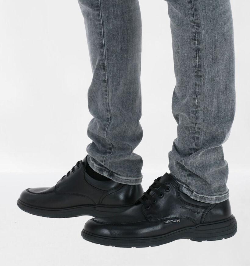 Mephisto Douk Riko Chaussures à lacets en Noir en cuir (281012)