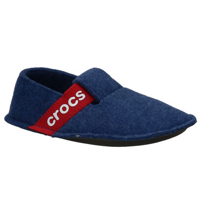 Crocs Classic Slipper Blauwe Pantoffels in wol (255716)