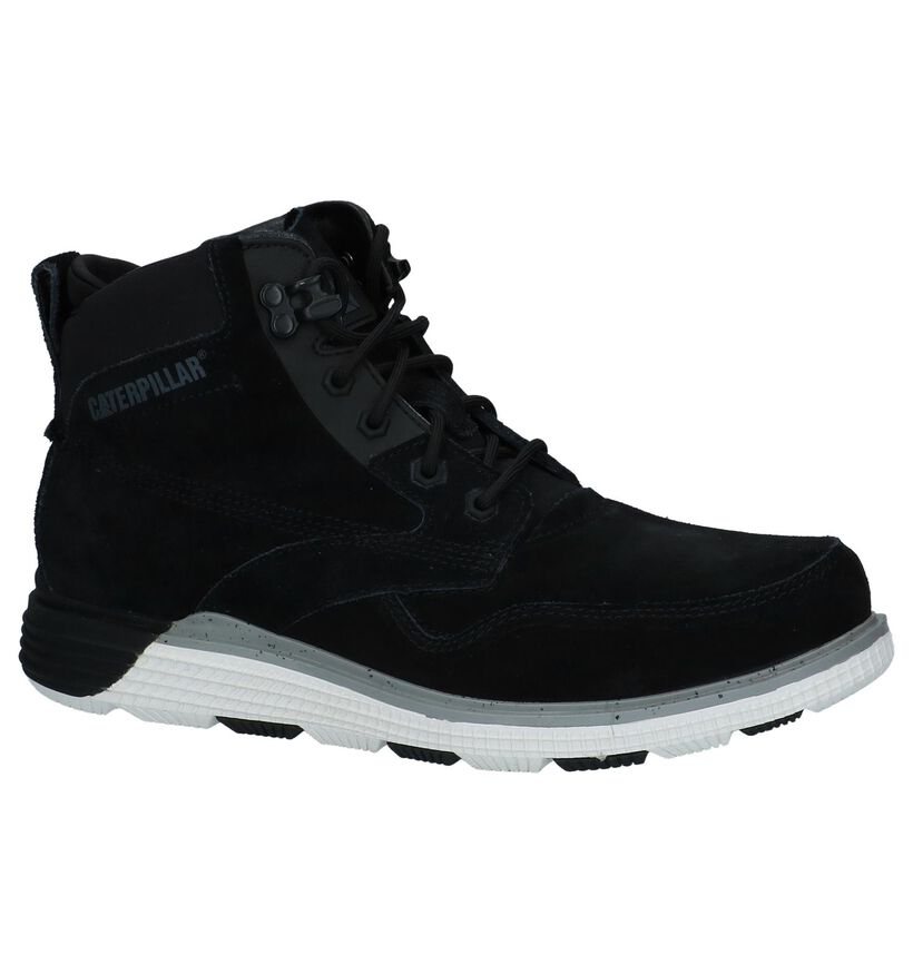 Caterpillar Chaussures hautes en Noir en daim (225464)