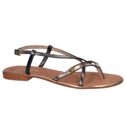 Les Tropeziennes Sandales plates en Noir en cuir (244376)
