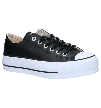 Converse All Star Lift Clean Zwarte Sneakers in leer (263344)