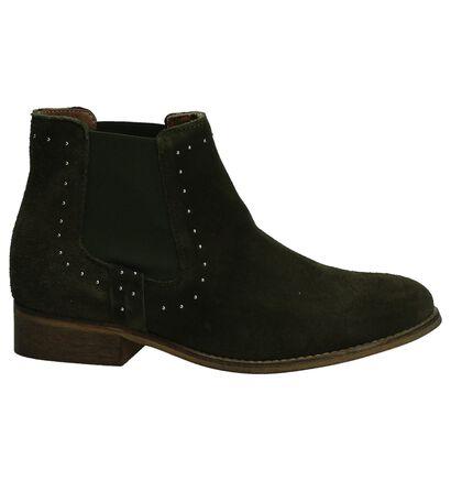 Miss Rose Kaki Chelsea Boots, Groen, pdp