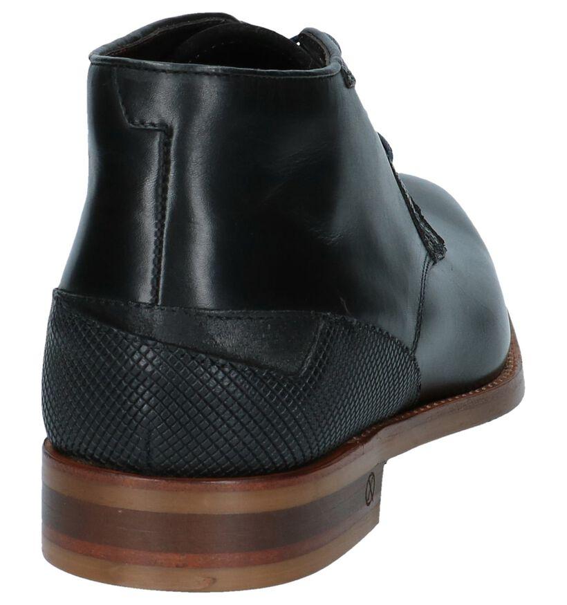 Ambiorix Chaussures hautes en Noir en cuir (231737)