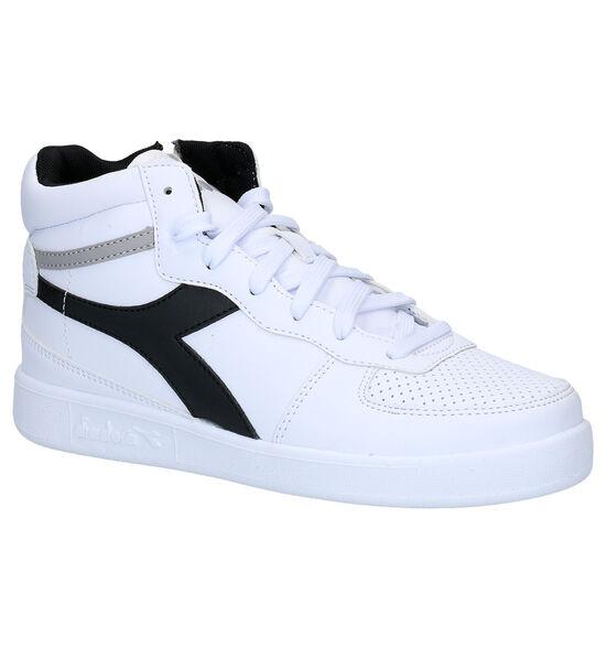Diadora Playground Witte Hoge Sneakers