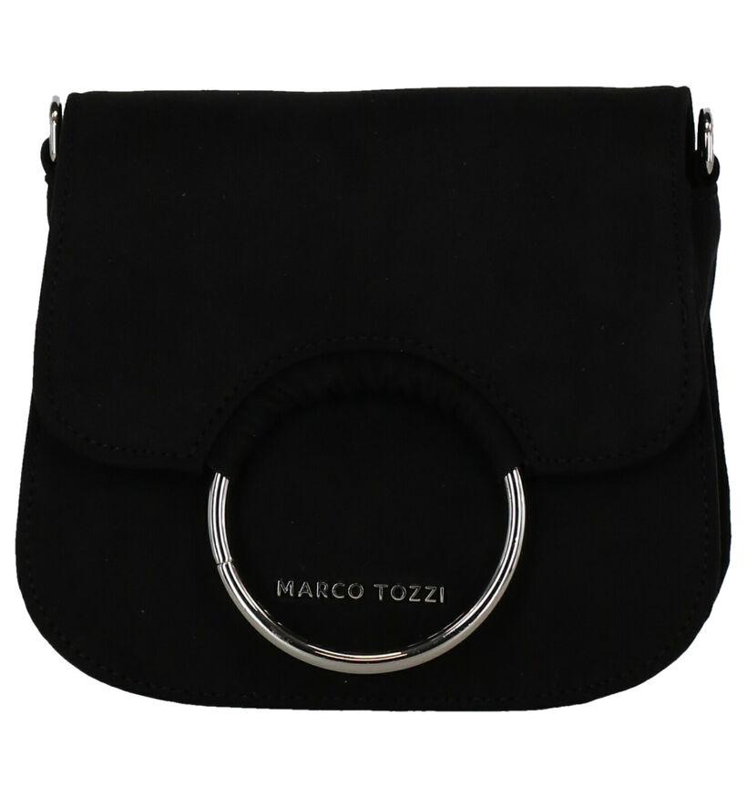 Marco Tozzi Zwarte Crossbody Tas in stof (271990)