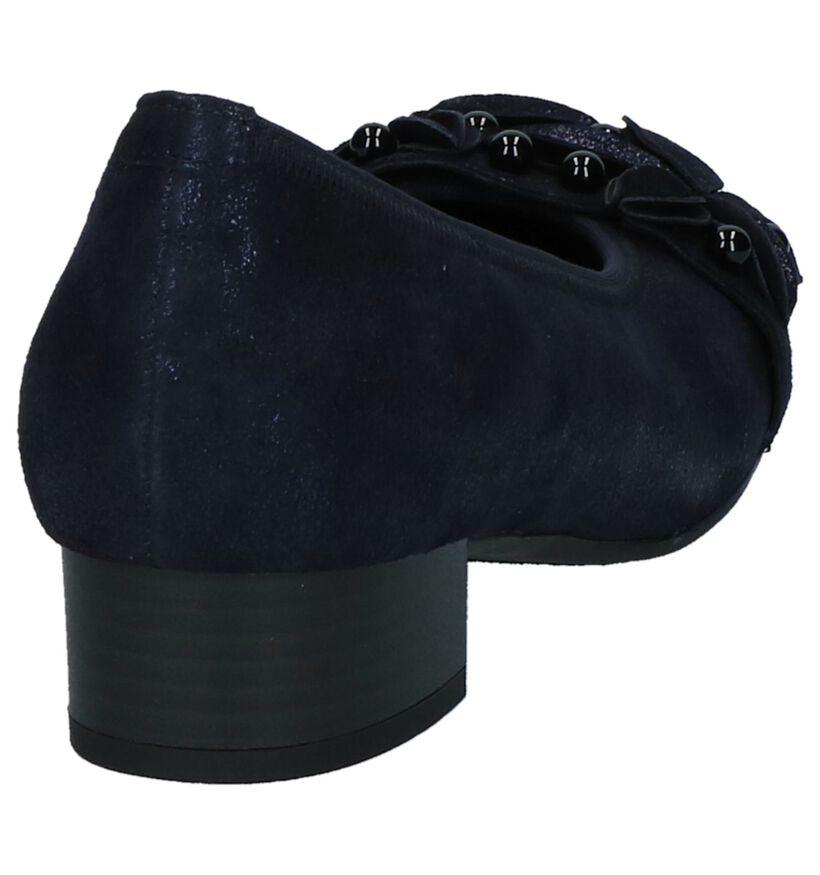 Donkerblauwe Gabor Optifit Pumps Comfort in nubuck (231264)