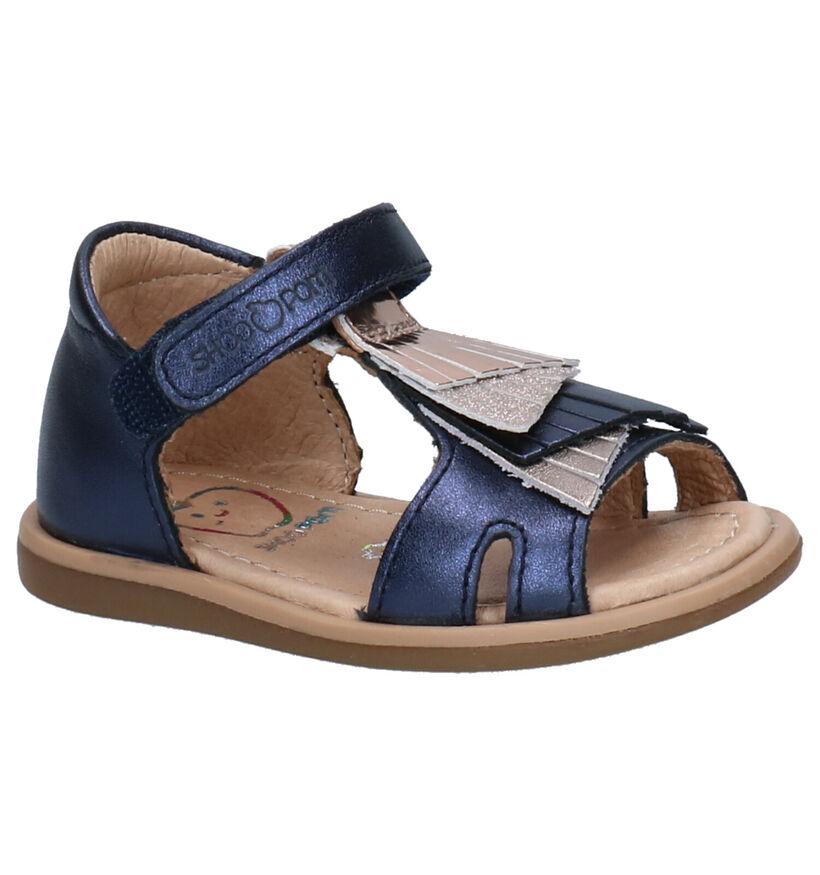 Shoo Pom Blauwe Sandalen in leer (268763)
