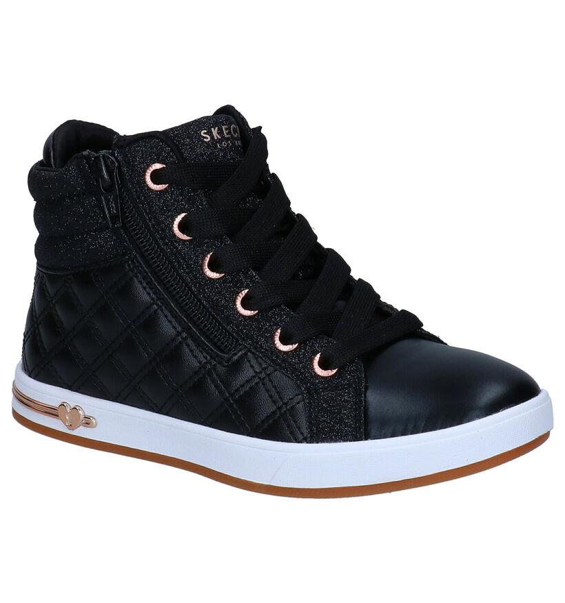 Skechers Shoutouts Zwarte Sneakers in kunstleer (294006)