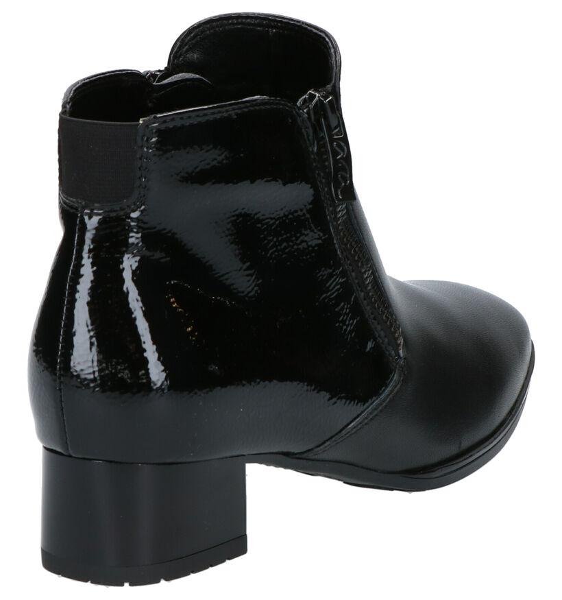 Ara High Soft Zwarte Enkellaarzen in lak (260826)