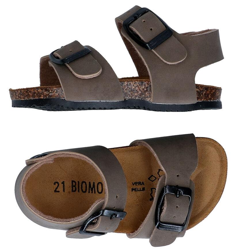 Biomodex Sandales en Brun foncé en cuir (284498)