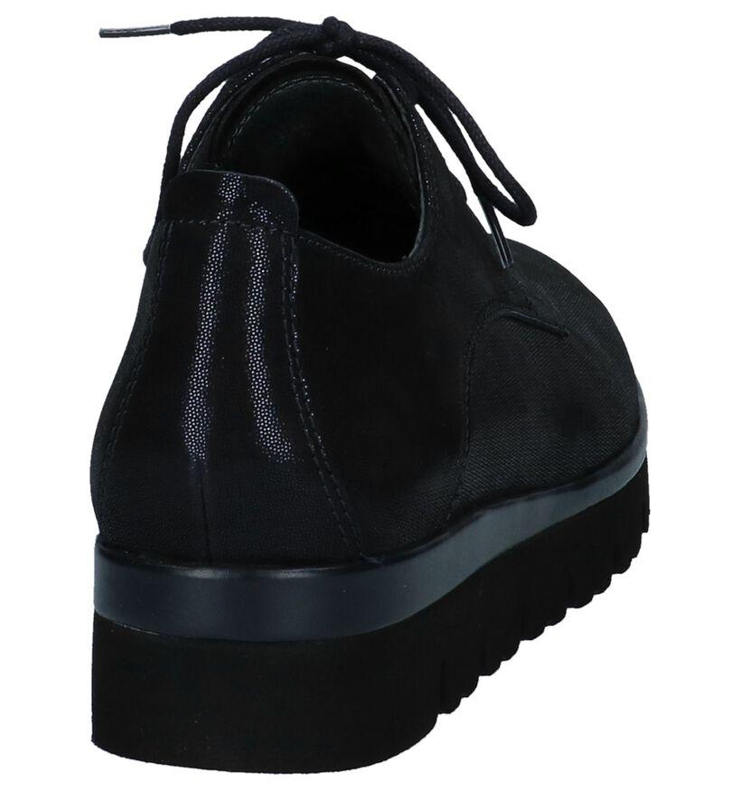 Gabor Best Fitting Chaussures à lacets en Bleu foncé en nubuck (231148)
