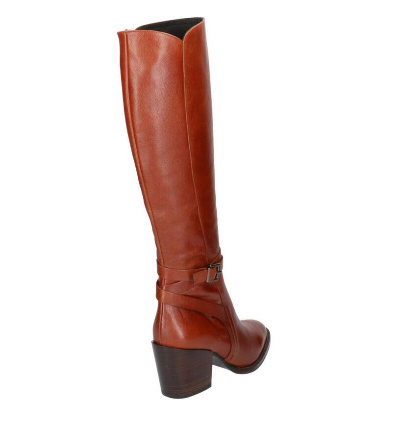 Zinda Bottes hautes en Cognac en cuir (261186)