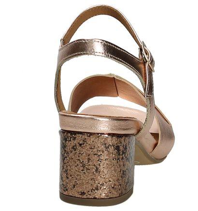 Gabor Comfort Rose Gold Sandalen met Glitters, Roze, pdp