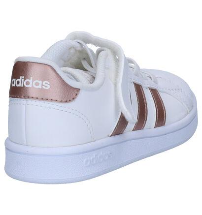 adidas Grand Court Witte Sneakers in imitatieleer (252505)