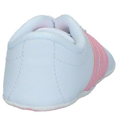 adidas Court Chaussons bébé en Blanc en simili cuir (237010)