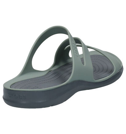 Zwarte Slippers Crocs Swiftwater in kunststof (244744)